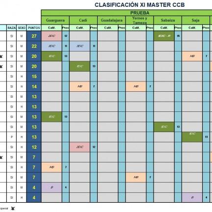 CLASIFICACION WEB tras vegadeo